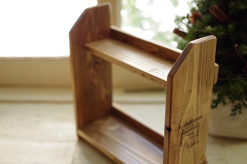 クリスマスディスプレイ用に制作したミニ木製ラック
