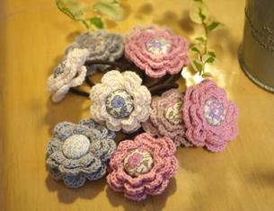 花のヘアゴム花束 111204