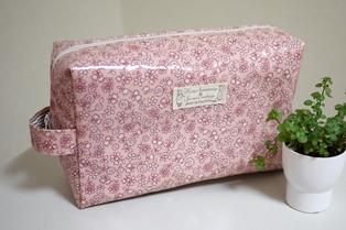 オムツポーチ ピンク小花柄120322