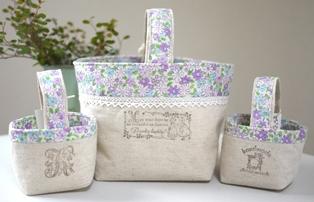 小物入れ小と大 紫小花120407