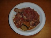 鶏腿赤ワイントマト煮
