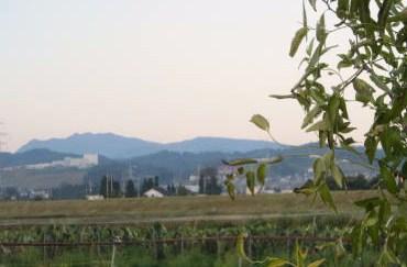 牛岳の朝焼け