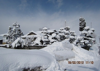 大雪峠越え