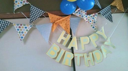 誕生日の飾りつけ