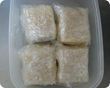 塩麹豆腐 仕込み