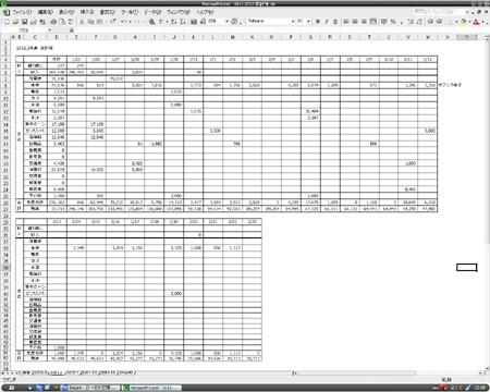 家計簿 Excel