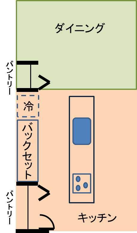 キッチン間取り図1
