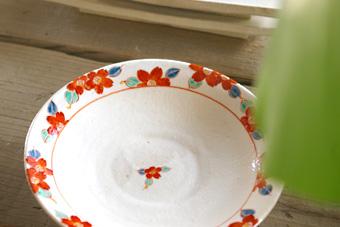 安江洋 赤絵鉢