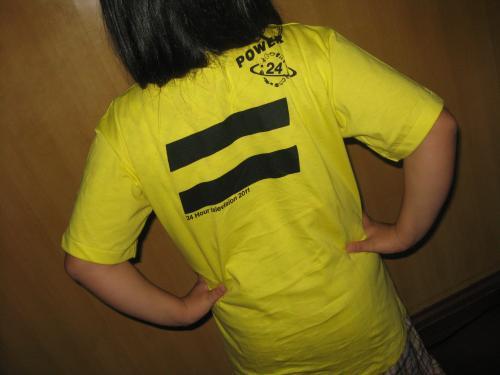 2011年 24時間TV Tシャツ 裏面