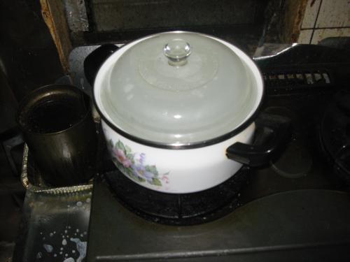 小さい鍋に変更