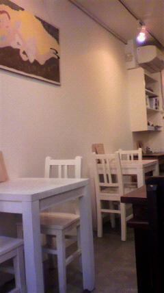カフェの中
