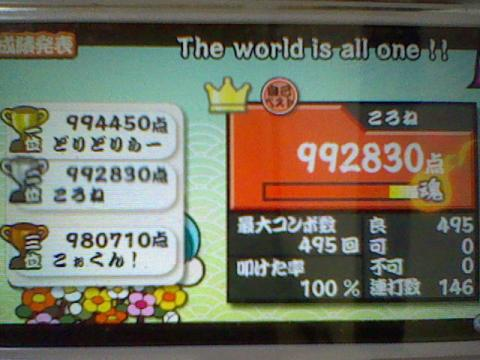 The world is all one!! 全良 99,2万