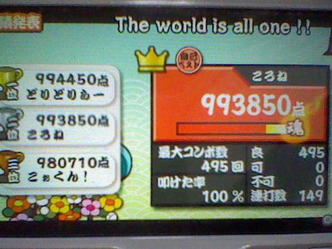 The world is all one !! 99.3万 全良