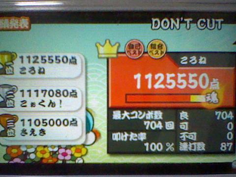 DONT CUT 112.5万 全良
