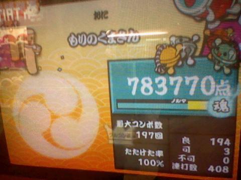 もりのくまさん 78.3万 可3 408打