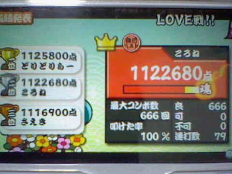 LOVE戦!! 112.2万 全良