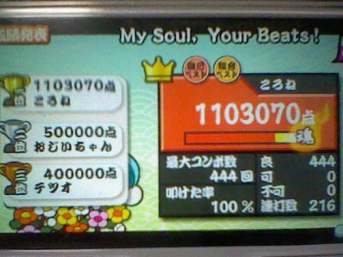 My Soul,Your Beats! 110.3万 全良