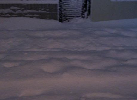 雪が深いよ