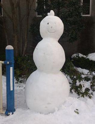 大きな雪だるまー