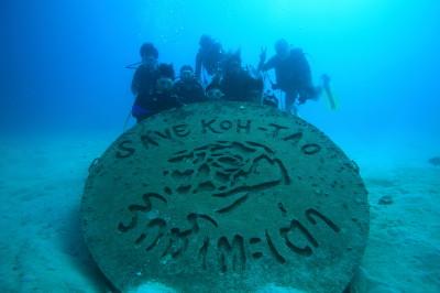 タオ島、ツインズ、記念ダイブ