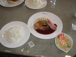 金目鯛とチキンのランチセット