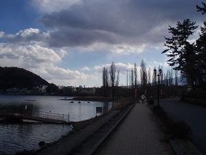河口湖畔散策