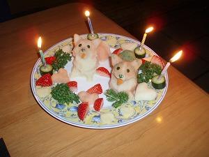 初宿泊記念ケーキ