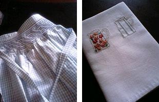 エプロン 刺繍