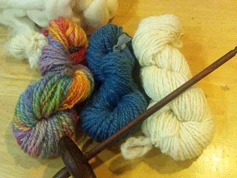 糸紡ぎ体験2