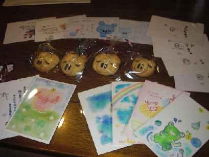 ポストカードとクッキー
