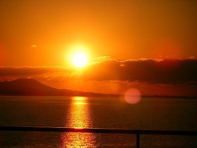 黄金の夕日