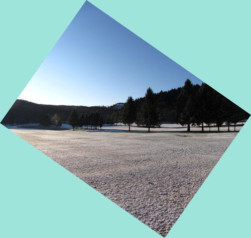 雪の飯綱高原ゴルフコース