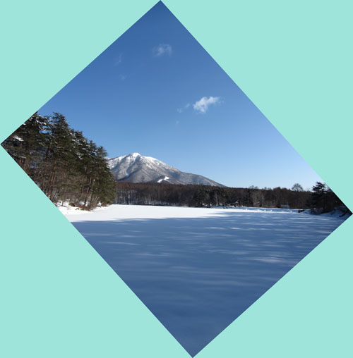 雪の飯綱湖