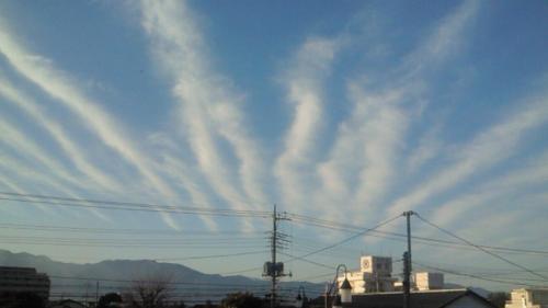 富士から雲