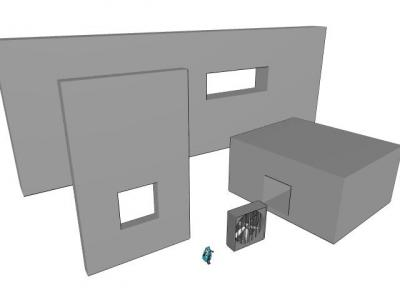 換気扇用壁モデル見本