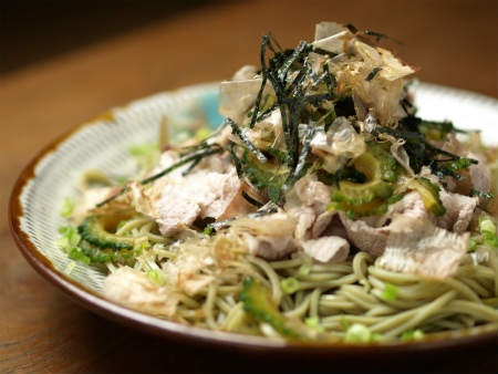簡単ゴーヤーポン酢漬け蕎麦09