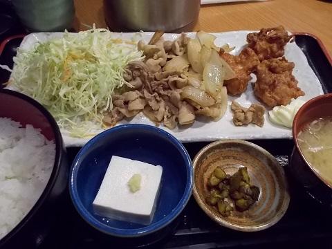 合わせ技の昼定食