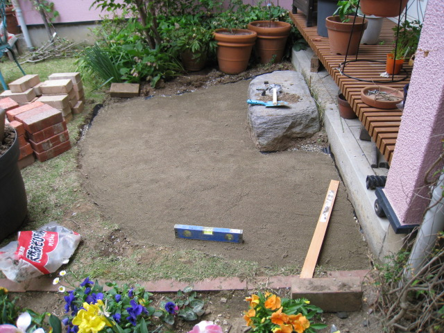 テラスの砂