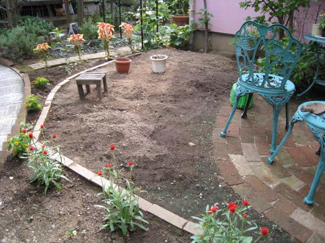 キッチン菜園予定地