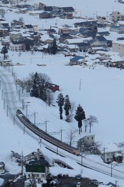 スキー場からの俯瞰