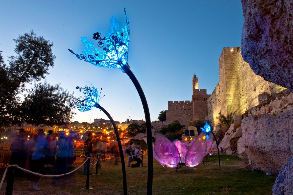 Jerusalem light festival.june.2