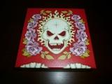 Skull Rose red