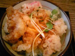 「とり天親子丼」麺や ほり野(那珂川)