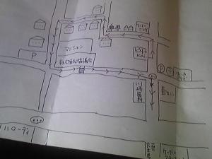 「手書きの地図」ビストロ Kai(春日市)