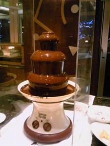 「チョコレートファウンテン」セイルフィッシュカフェ(沖縄)