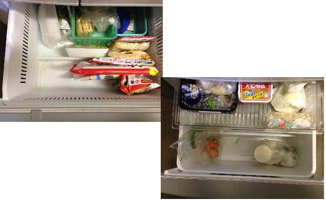 汚冷凍庫・野菜室