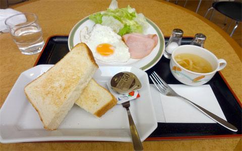 トーストセット:350円