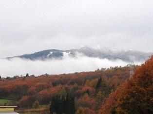 冠雪と紅葉1115