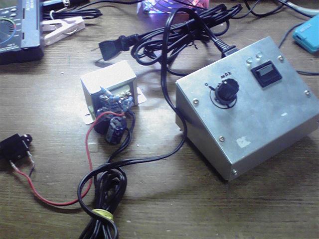 昇圧トランス&調光器