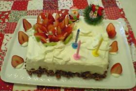 ギフトボックスのケーキ